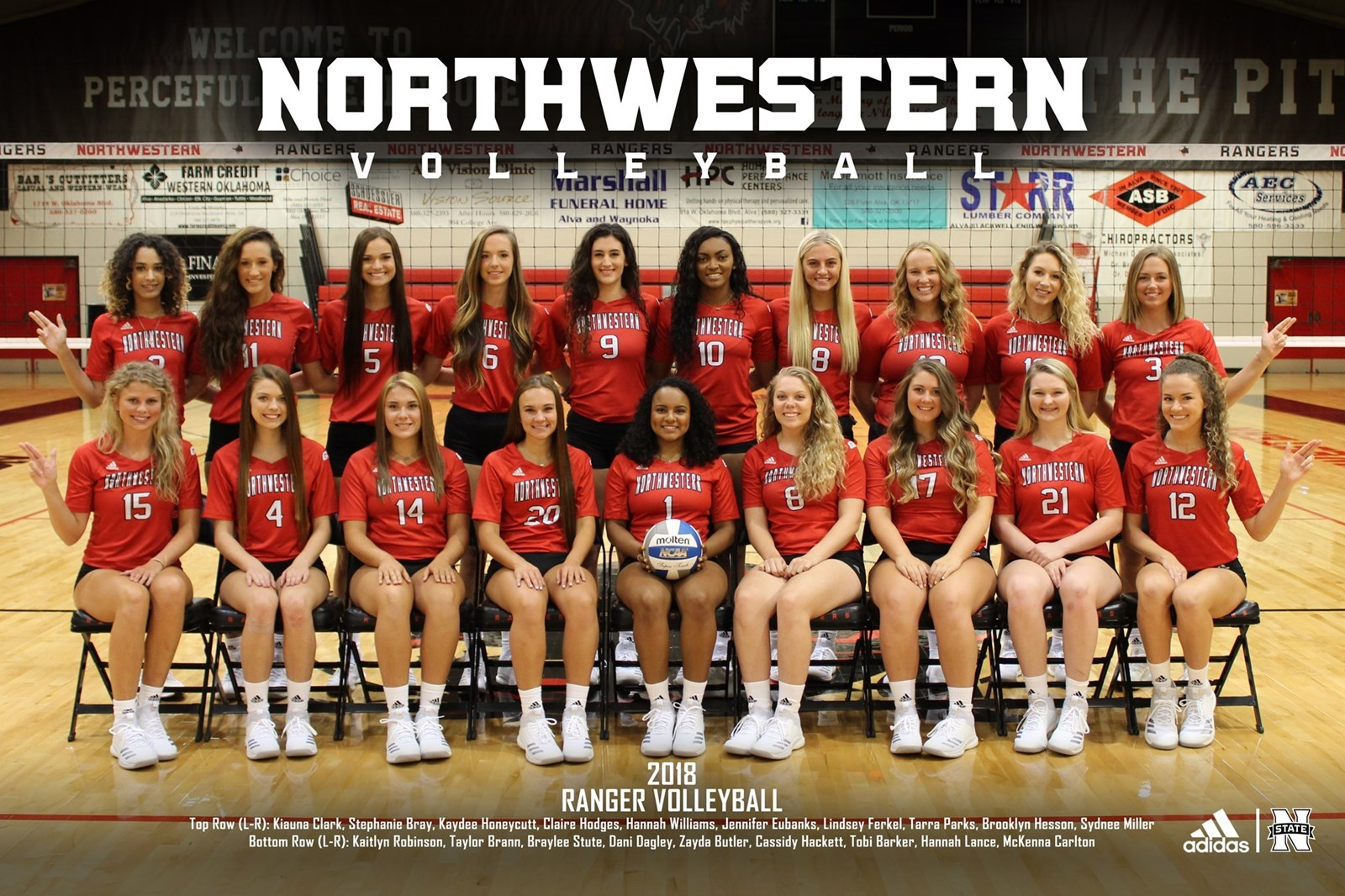 2018 19 Women S Volleyball Roster Northwestern Oklahoma State Athletics